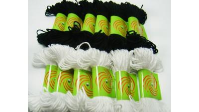 پک 12 عددی نخ دستبند مشکی و سفید