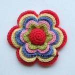 بافت یک گل قلاب بافی پر کاربرد خیلی زیبا!!!