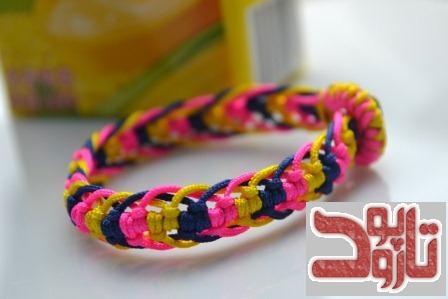 بافت زیبای دستبند مار ماهی رنگارنگ