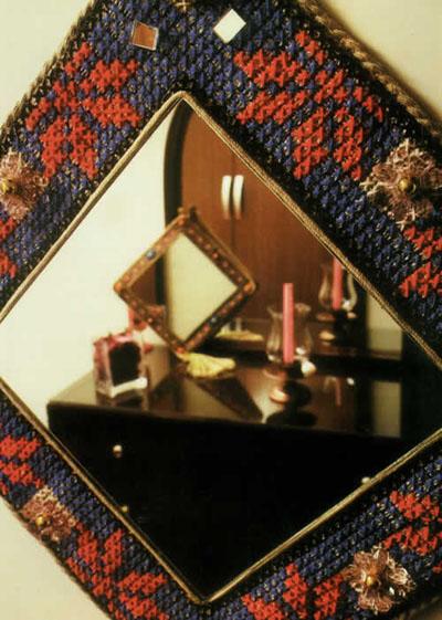 آموزش گونی دوزی قاب آینه