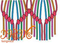 آموزش بافت دستبند دوستی موج دوبل