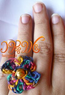 روش بافت یک انگشتر گل زیبا