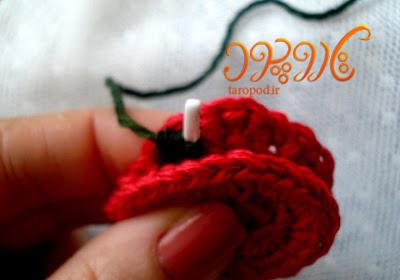 ساخت گردنبند زیبای گل دار با نخ های رنگی