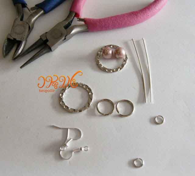 آموزش ساخت دستبند و گوشواره زیبای مرواریدی