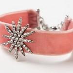 روش ساخت دستبند زیبای نگینی با پارچه های  رنگی