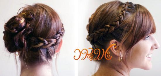 بستن موی بافته شده به روش جدید و زیبا