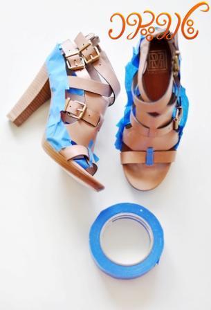 چطور کفش هامون رو رنگ کنیم+تصویر