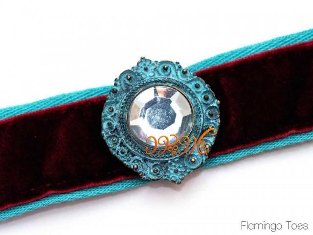 روش ساخت دستبند نگینی با پارچه های زیبای رنگی