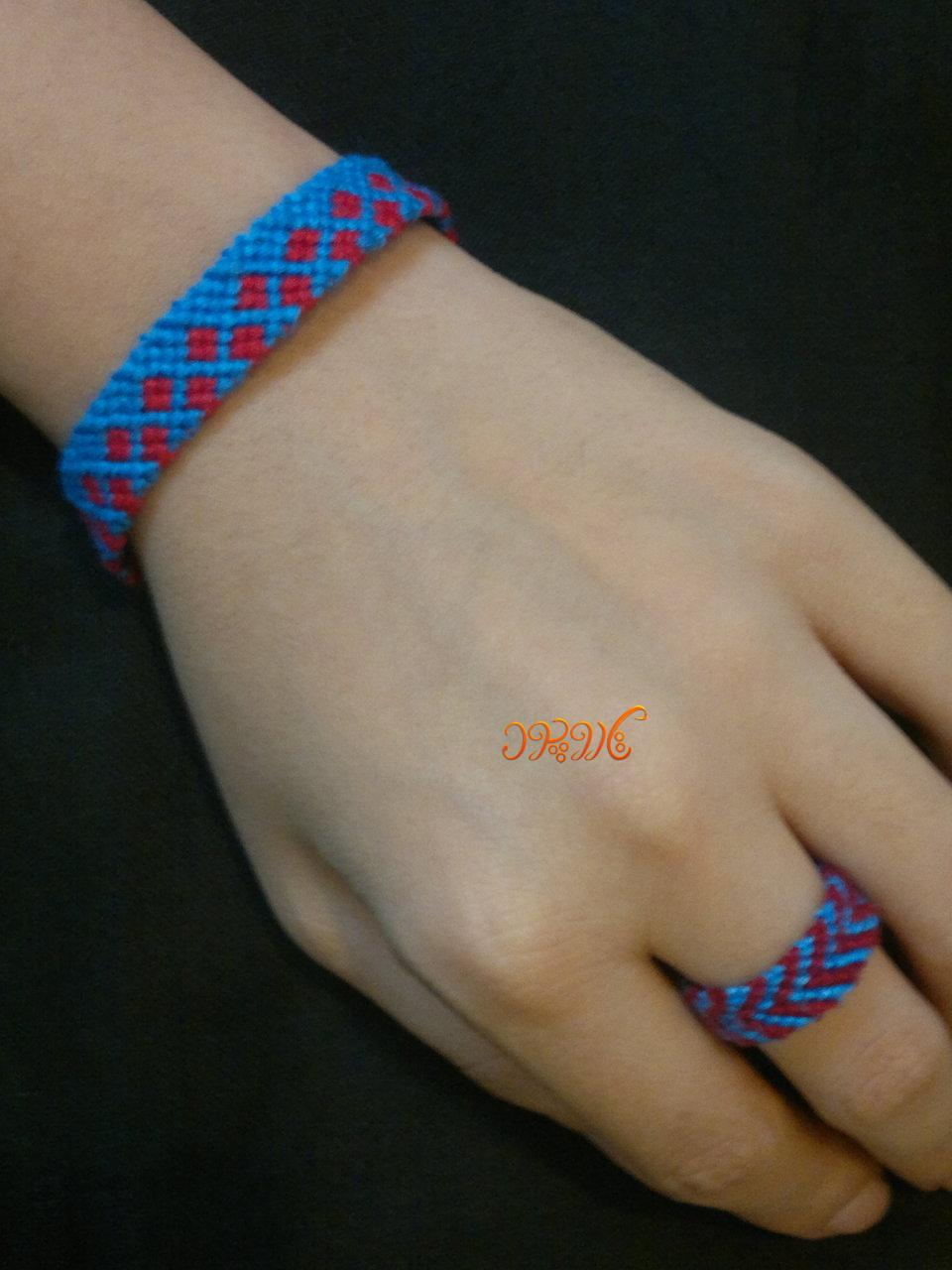 آموزش بافت یک نوع دستبند دوستی زیبا و جدید