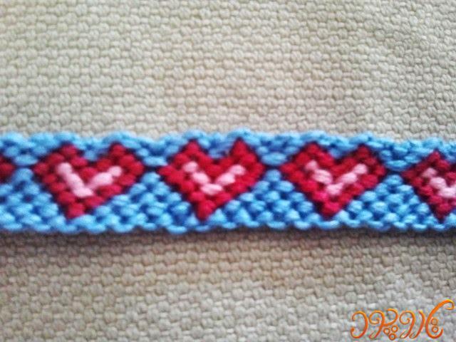 آموزش بافت دستبند دوستی زیبا طرح قلب۲