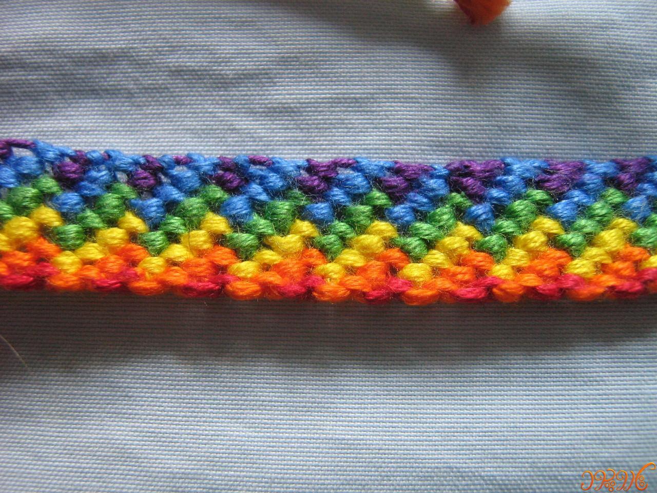 آموزش دستبند دوستی زیبا ی رنگین کمان