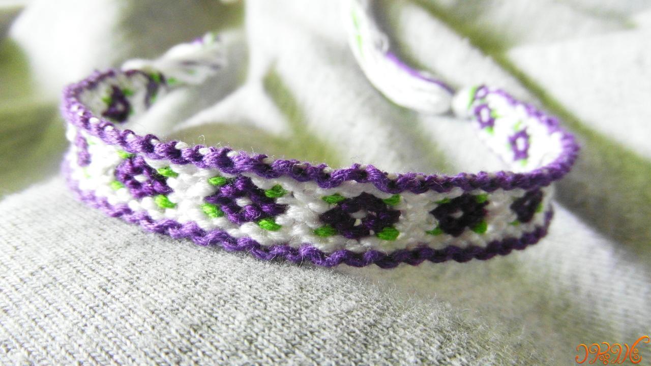 دستبند دوستی زیبا طرح جدید گل