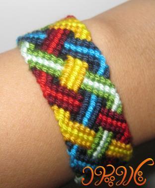 آموزش ویژه دستبند دوستی زیبا و جدید طرح بافت زنجیره ای
