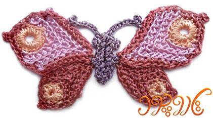 آموزش ویژه قلاب بافی پروانه ای زیبا