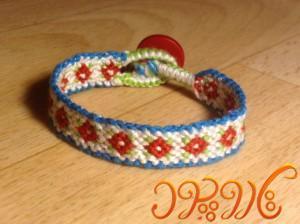 دستبند دوستی زیبا گل
