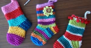 آموزش بافتنی جوراب هفت رنگ
