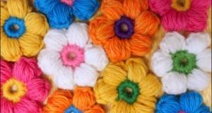 آموزش گل بافتنی مخصوص گل سر و ….