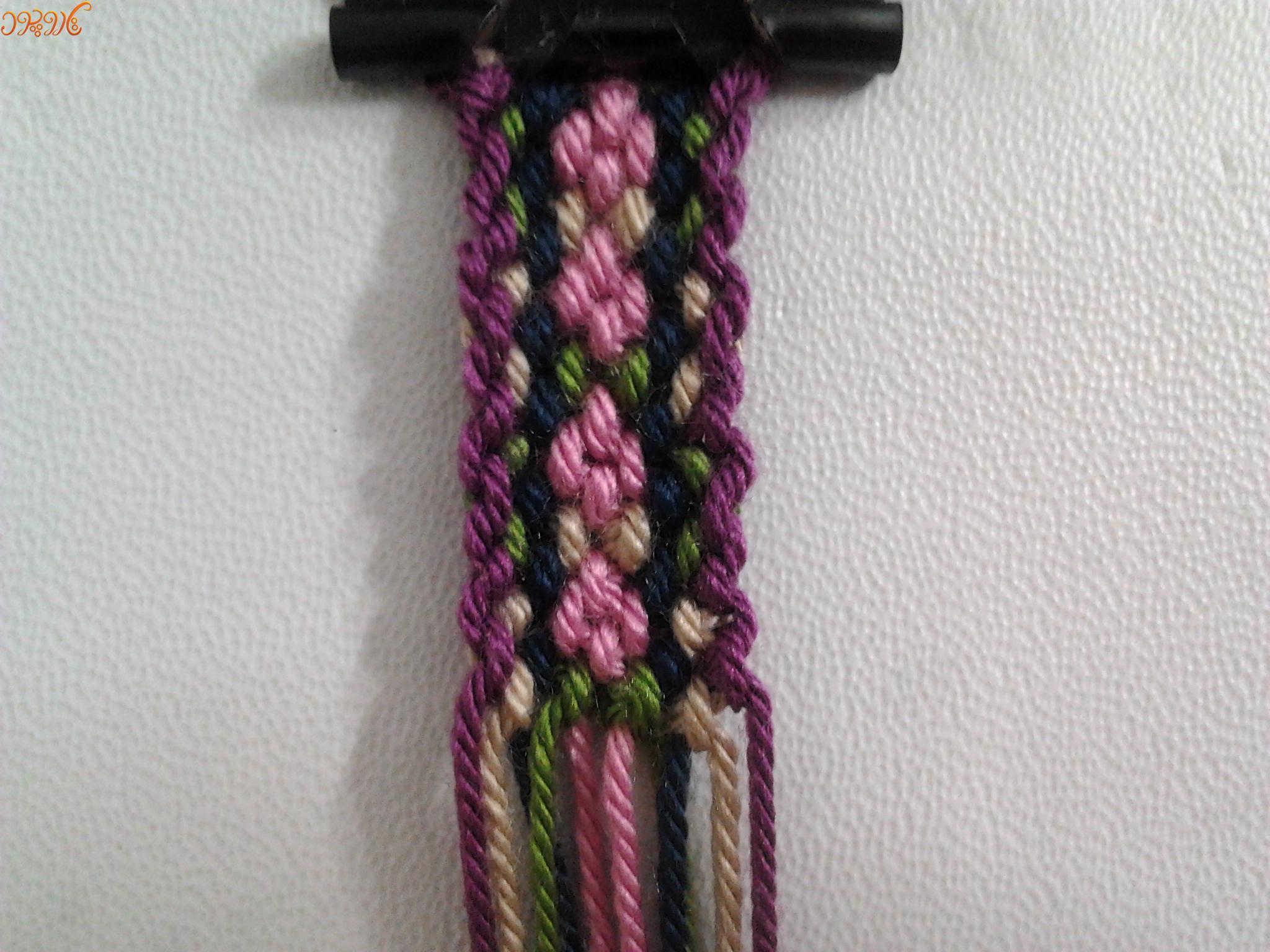 آموزش بافت دستبند دوستی زیبای سنتی شکوفه