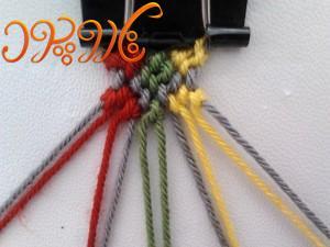 آموزش بافت دستبند دوستی جدید زنجیره های مربع