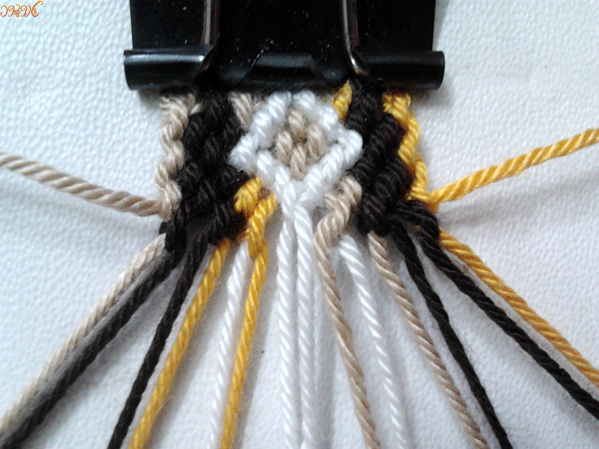آموزش بافت دستبند دوستی پهن و زیبا تاروپود
