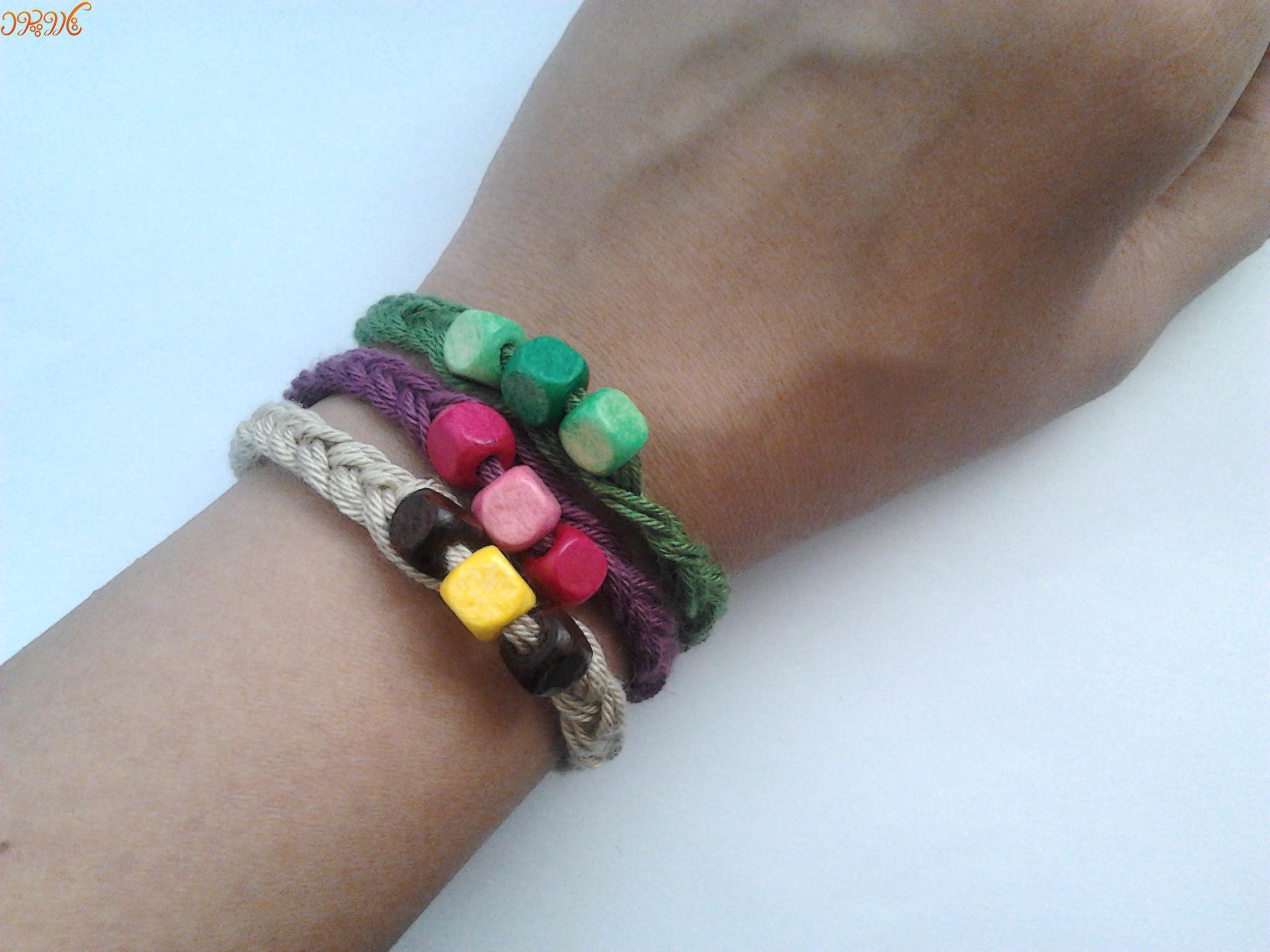 آموزش بافت دستبند ساده و زیبا با مهره