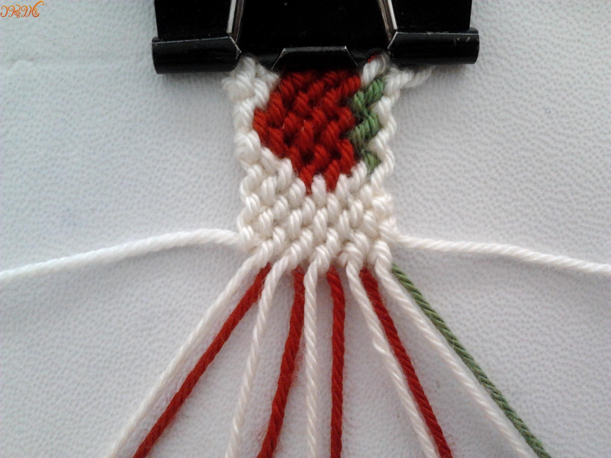 آموزش بافت دستبند دوستی زیبا طرح توت فرنگی