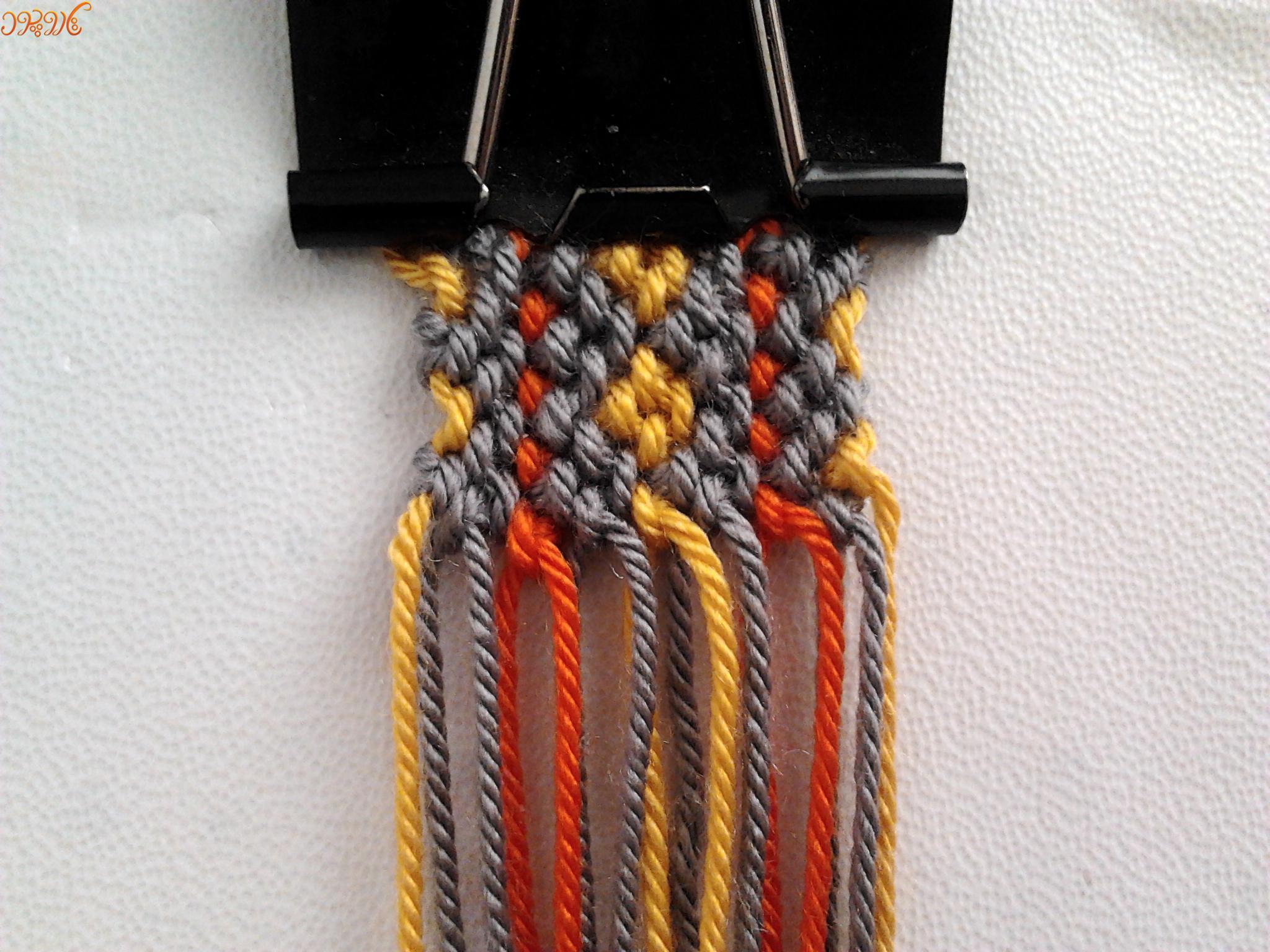 آموزش بافت دستبند دوستی پهن تاروپود