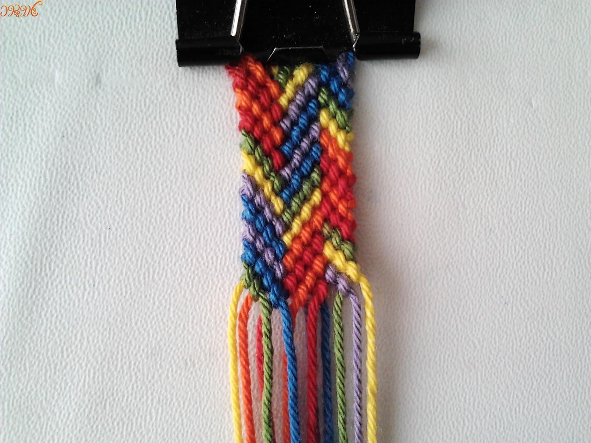 آموزش بافت دستبند دوستی زیبا و رنگی تاروپود