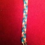 آموزش بافت دستبند دوستی لوزی مورب 2