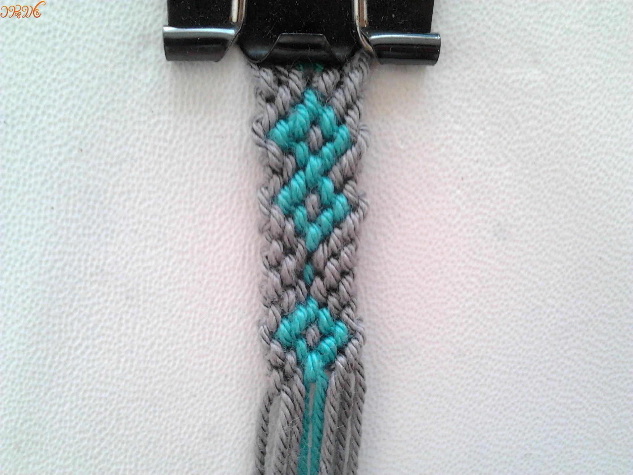 آموزش بافت دستبند دوستی باریک بی نهایت ۲