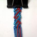 """آموزش بافت دستبند دوستی طرح زیبا"""" امواج """"3"""