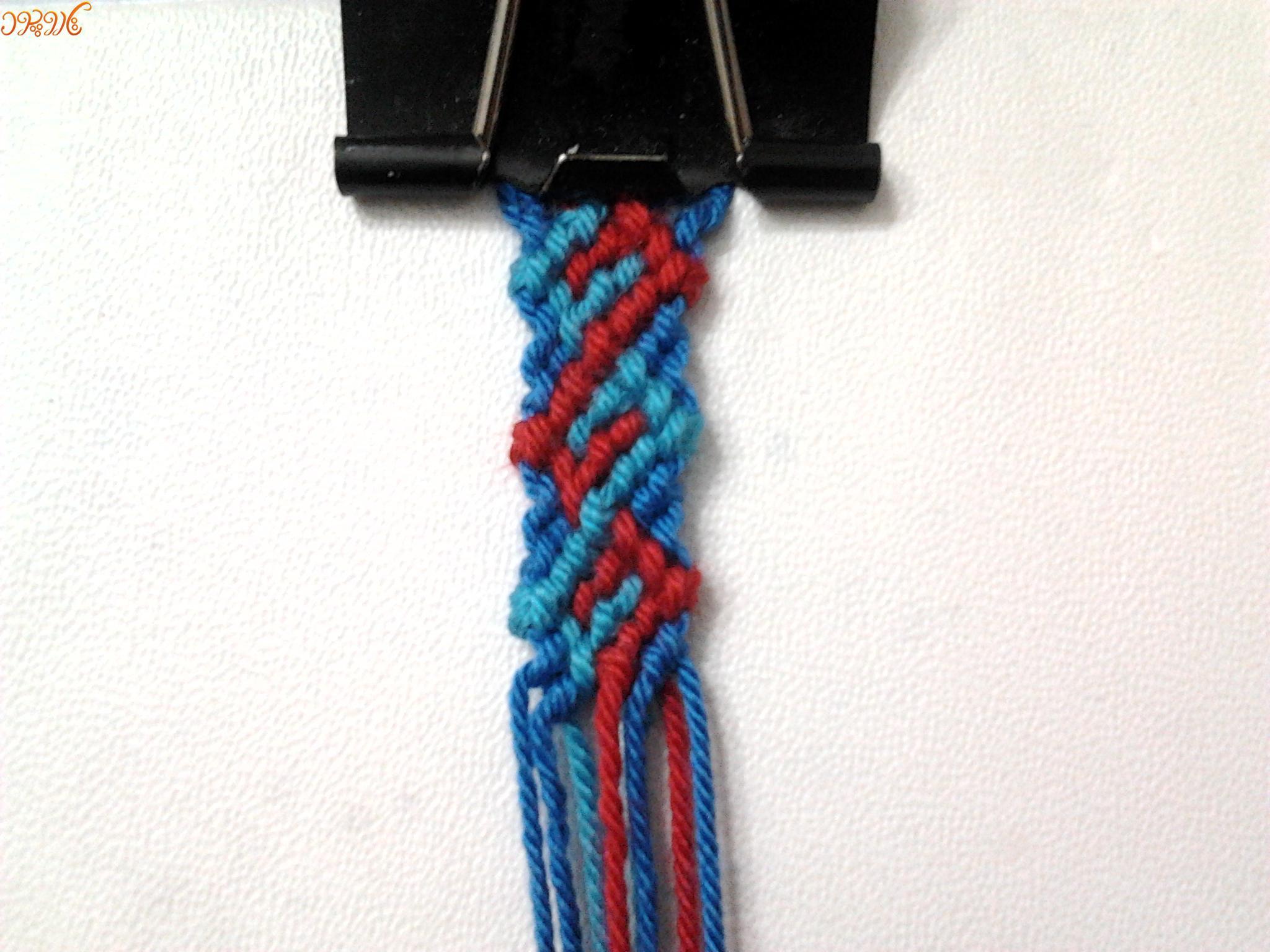 """آموزش بافت دستبند دوستی طرح زیبا"""" امواج """"۳"""