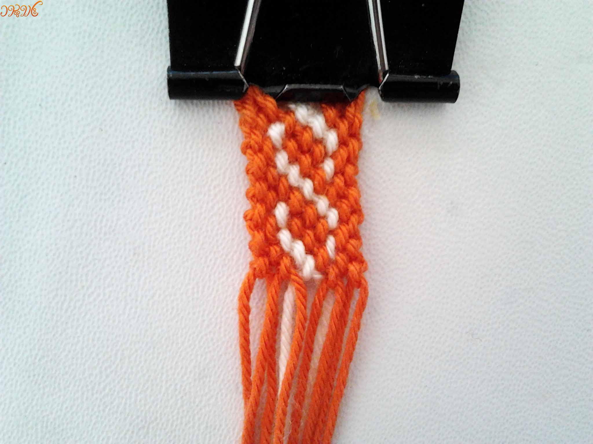"""آموزش بافت دستبند دوستی جدید طرح """"زنجیر"""""""