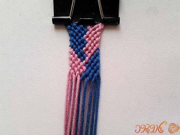 آموزش بافت دستبند دوستی گیس بافت دندانه ای