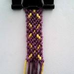 """آموزش بافت دستبند دوستی """"گل 3″"""