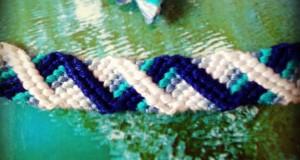 """آموزش بافت دستبند دوستی زیبا طرح """"مارال"""" 2"""
