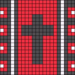 نقشه بافت دستبند دوستی طرح صلیب