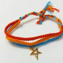 آموزش بافت دستبند ساده با گره مکرومه