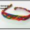 آموزش بافت دستبند دوستی جدید رنگین کمانی